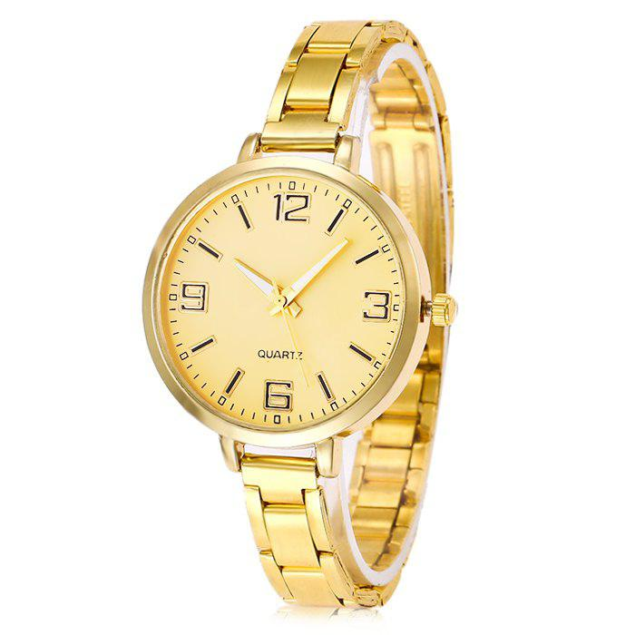 Trendy Stainless Steel Band Women Quartz Watch