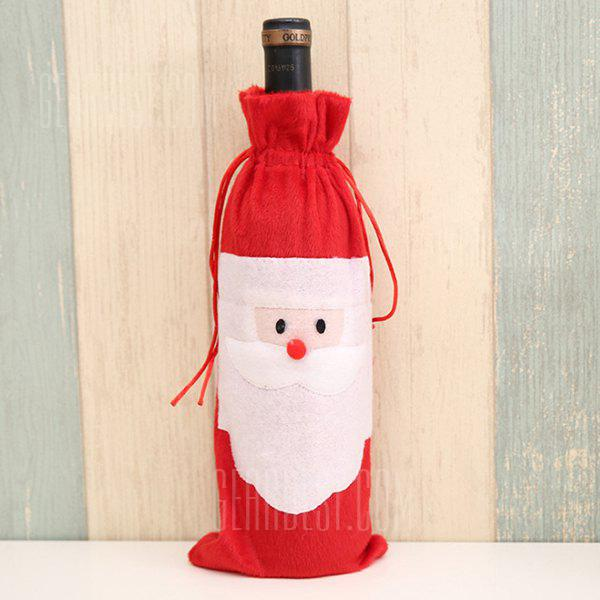 Reusable Wine Bag Handmade Santa Style Bottle Cover