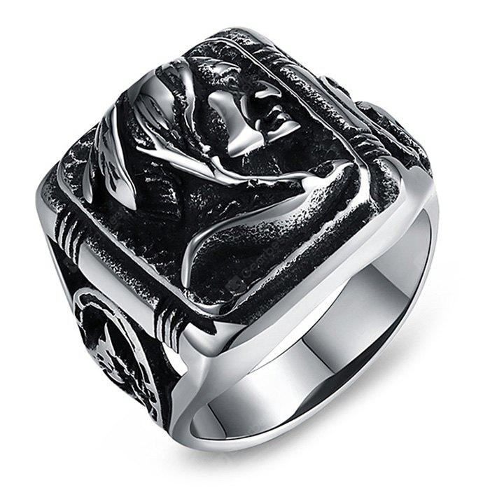 Mysterious Old Men Head Titanium Steel Men Ring