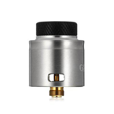 Tigertek GENJI RDA for E CigaretteRebuildable Atomizers<br>Tigertek GENJI RDA for E Cigarette<br><br>Brand: Tigertek<br>Coil Quantity: Dual coil<br>Material: Stainless Steel<br>Package Contents: 1 x Genji RDA with Wide Bore Doc, 1 x Spare Part Bag Cap Drip Tip, 1 x Delrin 510 Drip Tip with Adaptor<br>Package size (L x W x H): 4.20 x 4.20 x 7.60 cm / 1.65 x 1.65 x 2.99 inches<br>Package weight: 0.0970 kg<br>Product size (L x W x H): 2.50 x 2.50 x 3.20 cm / 0.98 x 0.98 x 1.26 inches<br>Product weight: 0.0400 kg<br>Rebuildable Atomizer: RDA<br>Type: Rebuildable Atomizer
