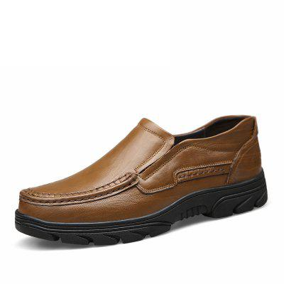 Male Business Quintessential Soft Casual Leather ShoesCasual Shoes<br>Male Business Quintessential Soft Casual Leather Shoes<br><br>Closure Type: Slip-On<br>Contents: 1 x Pair of Shoes, 1 x Box, 1 x Dustproof Paper<br>Function: Slip Resistant<br>Lining Material: Pigskin<br>Materials: Pigskin, Rubber, Leather<br>Occasion: Tea Party, Shopping, Office, Holiday, Casual, Party, Daily, Dress<br>Outsole Material: Rubber<br>Package Size ( L x W x H ): 33.00 x 22.00 x 11.00 cm / 12.99 x 8.66 x 4.33 inches<br>Package weight: 0.9500 kg<br>Pattern Type: Solid<br>Product weight: 0.8000 kg<br>Seasons: Autumn,Spring<br>Style: Modern, Leisure, Fashion, Comfortable, Casual, Business<br>Toe Shape: Round Toe<br>Type: Casual Leather Shoes<br>Upper Material: Leather