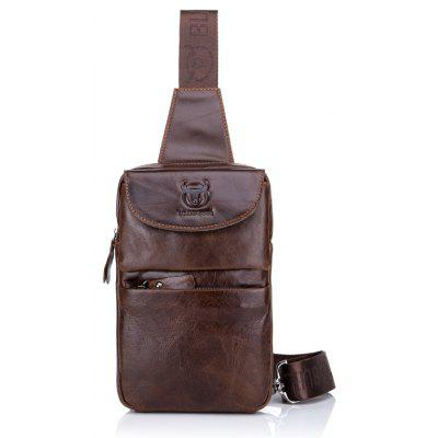 BULLCAPTAIN Water-resistant Genuine Leather Chest Bag
