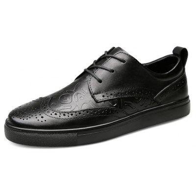 Modern Bullock Shoes with Hollow Carved Design for MenMen's Oxford<br>Modern Bullock Shoes with Hollow Carved Design for Men<br><br>Closure Type: Lace-Up<br>Contents: 1 x Pair of Shoes, 1 x Box, 1 x Dustproof Paper<br>Decoration: Hollow Out<br>Function: Slip Resistant<br>Materials: Rubber, Leather<br>Occasion: Tea Party, Party, Office, Casual, Shopping, Daily, Holiday<br>Outsole Material: Rubber<br>Package Size ( L x W x H ): 33.00 x 22.00 x 11.00 cm / 12.99 x 8.66 x 4.33 inches<br>Package weight: 0.9500 kg<br>Pattern Type: Solid<br>Product weight: 0.8000 kg<br>Seasons: Autumn,Spring<br>Style: Modern, Leisure, Fashion, Comfortable, Casual, Business<br>Toe Shape: Round Toe<br>Type: Casual Leather Shoes<br>Upper Material: Leather