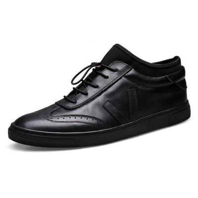 Men Ultralight Elastic Drawstring Skateboarding SneakersMen's Sneakers<br>Men Ultralight Elastic Drawstring Skateboarding Sneakers<br><br>Closure Type: Elastic band, Slip-On<br>Contents: 1 x Pair of Shoes, 1 x Box, 1 x Dustproof Paper<br>Function: Slip Resistant<br>Materials: Leather, Rubber<br>Occasion: Running, Tea Party, Sports, Shopping, Riding, Party, Outdoor Clothing, Office, Holiday, Casual, Daily<br>Outsole Material: Rubber<br>Package Size ( L x W x H ): 33.00 x 22.00 x 11.00 cm / 12.99 x 8.66 x 4.33 inches<br>Package weight: 0.9500 kg<br>Pattern Type: Solid<br>Product weight: 0.8000 kg<br>Seasons: Autumn,Spring<br>Style: Modern, Leisure, Fashion, Comfortable, Casual<br>Toe Shape: Round Toe<br>Type: Sports Shoes<br>Upper Material: Leather