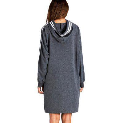 Raglan Sleeves Striped Hoodie DressWomens Dresses<br>Raglan Sleeves Striped Hoodie Dress<br><br>Dresses Length: Knee-Length<br>Material: Cotton, Polyester<br>Neckline: Hooded<br>Package Contents: 1 x Dress<br>Package size: 30.00 x 40.00 x 1.00 cm / 11.81 x 15.75 x 0.39 inches<br>Package weight: 0.4150 kg<br>Pattern Type: Striped<br>Product weight: 0.3950 kg<br>Season: Fall, Spring<br>Silhouette: Straight<br>Sleeve Length: Long Sleeves<br>Sleeve Type: Raglan Sleeve<br>Style: Casual<br>With Belt: No