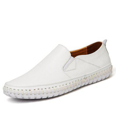 Male Simple Lightweight Driving Flat LoaferFlats &amp; Loafers<br>Male Simple Lightweight Driving Flat Loafer<br><br>Closure Type: Slip-On<br>Contents: 1 x Pair of Shoes, 1 x Box, 1 x Dustproof Paper<br>Function: Slip Resistant<br>Materials: Rubber, Leather<br>Occasion: Tea Party, Party, Office, Holiday, Shopping, Casual, Daily<br>Outsole Material: Rubber<br>Package Size ( L x W x H ): 33.00 x 22.00 x 11.00 cm / 12.99 x 8.66 x 4.33 inches<br>Package weight: 0.7500 kg<br>Pattern Type: Solid<br>Product weight: 0.6000 kg<br>Seasons: Autumn,Spring<br>Style: Modern, Leisure, Fashion, Comfortable, Casual<br>Toe Shape: Round Toe<br>Type: Flat Shoes<br>Upper Material: Leather