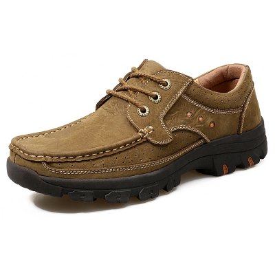 Male Versatile Outdoor Soft Casual Leather ShoesCasual Shoes<br>Male Versatile Outdoor Soft Casual Leather Shoes<br><br>Closure Type: Lace-Up<br>Contents: 1 x Pair of Shoes, 1 x Box, 1 x Dustproof Paper<br>Function: Slip Resistant<br>Lining Material: Pigskin<br>Materials: Pigskin, Rubber, Leather<br>Occasion: Tea Party, Sports, Shopping, Party, Outdoor Clothing, Casual, Riding, Daily, Holiday, Office<br>Outsole Material: Rubber<br>Package Size ( L x W x H ): 33.00 x 22.00 x 11.00 cm / 12.99 x 8.66 x 4.33 inches<br>Package weight: 0.9600 kg<br>Pattern Type: Solid<br>Product weight: 0.8000 kg<br>Seasons: Autumn,Spring,Summer,Winter<br>Style: Modern, Leisure, Fashion, Comfortable, Casual<br>Toe Shape: Round Toe<br>Type: Casual Leather Shoes<br>Upper Material: Leather
