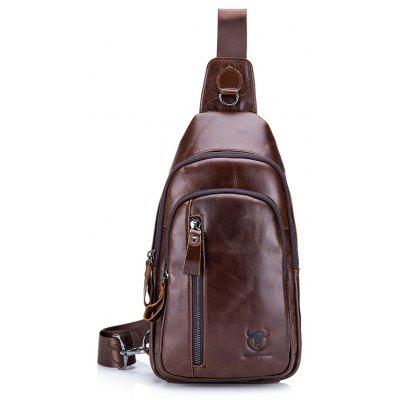 42a29abff2 BULLCAPTAIN Men Water-resistant Leather Chest Bag