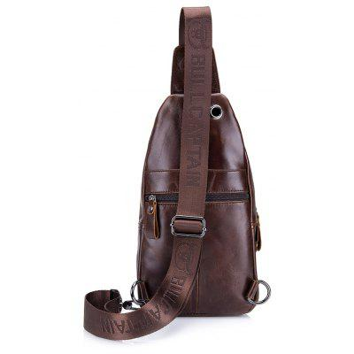 BULLCAPTAINMen Water-resistant Leather Chest BagCrossbody Bags<br>BULLCAPTAINMen Water-resistant Leather Chest Bag<br><br>Brand: BULLCAPTAIN<br>Features: Wearable<br>For: Daily Use, Outdoor, Shopping<br>Gender: Men<br>Material: Leather<br>Package Size(L x W x H): 33.00 x 20.00 x 6.00 cm / 12.99 x 7.87 x 2.36 inches<br>Package weight: 0.4200 kg<br>Packing List: 1 x Chest Bag<br>Product weight: 0.4000 kg<br>Style: Fashion<br>Type: Chest Bag