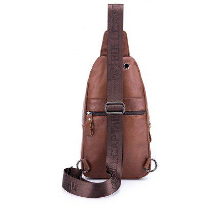 BULLCAPTAIN Men Water-resistant Leather Chest BagCrossbody Bags<br>BULLCAPTAIN Men Water-resistant Leather Chest Bag<br><br>Brand: BULLCAPTAIN<br>Features: Wearable<br>For: Daily Use, Outdoor, Shopping<br>Gender: Men<br>Material: Leather<br>Package Size(L x W x H): 33.00 x 20.00 x 6.00 cm / 12.99 x 7.87 x 2.36 inches<br>Package weight: 0.4200 kg<br>Packing List: 1 x Chest Bag<br>Product weight: 0.4000 kg<br>Style: Fashion<br>Type: Chest Bag