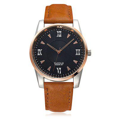 YAZOLE Business Lederband Herren Quarzuhr