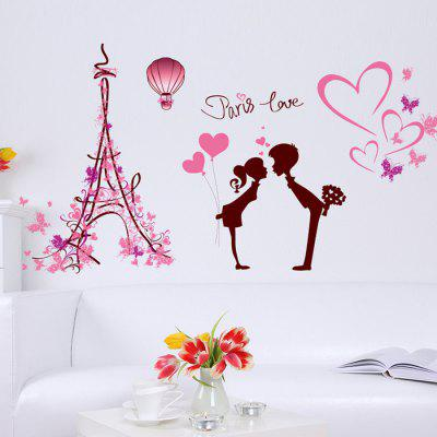 DIY Removable Paris Love Decal Wallpaper Wall StickerWall Stickers<br>DIY Removable Paris Love Decal Wallpaper Wall Sticker<br><br>Function: Decorative Wall Sticker<br>Material: Vinyl(PVC)<br>Package Contents: 1 x Wall Sticker<br>Package size (L x W x H): 52.00 x 7.00 x 7.00 cm / 20.47 x 2.76 x 2.76 inches<br>Package weight: 0.1300 kg<br>Product size (L x W x H): 50.00 x 70.00 x 1.00 cm / 19.69 x 27.56 x 0.39 inches<br>Product weight: 0.1100 kg<br>Quantity: 1<br>Subjects: Romance<br>Suitable Space: Bedroom,Cafes,Dining Room,Game Room,Hotel,Pathway<br>Type: Plane Wall Sticker