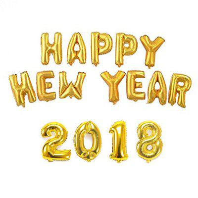 16 inch 2018 Happy New Year Words Pattern Balloon Decor - $6.74 Free ...