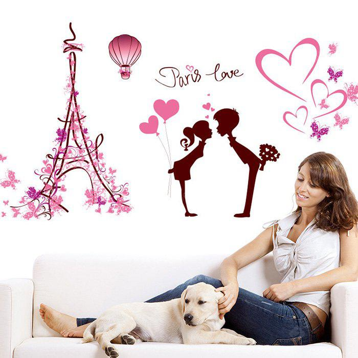 DIY Removable Paris Love Decal Wallpaper Wall Sticker