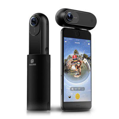 Insta360 ONE 4K Panoramic Camera for iPhone / iPadAction Cameras<br>Insta360 ONE 4K Panoramic Camera for iPhone / iPad<br><br>Audio System: Built-in microphone/speaker (AAC)<br>Battery Capacity (mAh): 820mAh<br>Battery Type: Built-in<br>Brand: Insta360<br>Camera Timer: Yes<br>Charge way: USB charge by PC<br>Charging Time: 3h<br>Features: Mini<br>Image Format: JPEG<br>Lens Diameter: F2.2<br>Max External Card Supported: TF 128G (not included)<br>Microphone: N/A<br>Model: ONE<br>Night vision: No<br>Package Contents: 1 x Insta360 ONE Panoramic Camera, 1 x Micro USB Cable, 1 x Protective Case, 1 x 8GB Micro SD Card, 1 x String Attachment , 1 x 1/4 Connector<br>Package size (L x W x H): 16.00 x 9.00 x 6.00 cm / 6.3 x 3.54 x 2.36 inches<br>Package weight: 0.3950 kg<br>Product size (L x W x H): 9.60 x 3.65 x 2.50 cm / 3.78 x 1.44 x 0.98 inches<br>Product weight: 0.0820 kg<br>Screen: No screen<br>Standby time: 120min<br>Type: Sports Camera<br>Type of Camera: 4K<br>Video format: MP4<br>Video Frame Rate: 120fps,30FPS,60FPS<br>Video Resolution: 2048 x 512 ( 120fps ),2560 x 1280 ( 60fps ),3840 x 1920 ( 30fps )<br>Waterproof: No<br>Waterproof Rating: No<br>WiFi Distance: No<br>Working Time: 70min