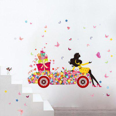 DIY Removable Flower Car + Beauty Decal Wallpaper Wall Sticker For Home  Decor ... Part 94