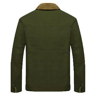 Outdoor Pile-lined Winter JacketMens Jackets &amp; Coats<br>Outdoor Pile-lined Winter Jacket<br><br>Closure Type: Single Breasted<br>Clothes Type: Jackets<br>Collar: Turn-down Collar<br>Embellishment: Others<br>Materials: Cotton, Cotton Blend<br>Occasion: Daily Use<br>Package Content: 1 x Jacket<br>Package Dimension: 35.00 x 25.00 x 2.00 cm / 13.78 x 9.84 x 0.79 inches<br>Package weight: 1.2200 kg<br>Pattern Type: Others<br>Product weight: 1.2000 kg<br>Seasons: Winter<br>Shirt Length: Regular<br>Sleeve Length: Long Sleeves<br>Style: Casual<br>Thickness: Thickening