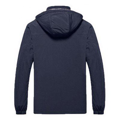 Outdoor Leisure Hooded JacketMens Jackets &amp; Coats<br>Outdoor Leisure Hooded Jacket<br><br>Closure Type: Zipper<br>Clothes Type: Jackets<br>Collar: Hooded<br>Embellishment: Others<br>Materials: Polyester<br>Occasion: Daily Use<br>Package Content: 1 x Jacket<br>Package Dimension: 35.00 x 25.00 x 2.00 cm / 13.78 x 9.84 x 0.79 inches<br>Package weight: 0.8700 kg<br>Pattern Type: Solid<br>Product weight: 0.8500 kg<br>Seasons: Winter<br>Shirt Length: Regular<br>Sleeve Length: Long Sleeves<br>Style: Casual<br>Thickness: Medium thickness