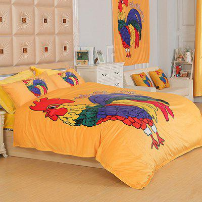 Pure Cotton Beautiful Chicken Pattern 4-piece Bedding SetBedding Sets<br>Pure Cotton Beautiful Chicken Pattern 4-piece Bedding Set<br><br>Package Contents: 2 x Pillowcase, 1 x Duvet Cover, 1 x Flat Sheet<br>Package size (L x W x H): 45.00 x 25.00 x 25.00 cm / 17.72 x 9.84 x 9.84 inches<br>Package weight: 1.5000 kg<br>Pattern Type: Animal<br>Product weight: 1.2000 kg