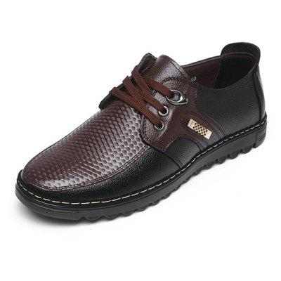 Men Stylish Scale-like Soft Casual Leather ShoesCasual Shoes<br>Men Stylish Scale-like Soft Casual Leather Shoes<br><br>Closure Type: Lace-Up<br>Contents: 1 x Pair of Shoes<br>Decoration: Split Joint<br>Function: Slip Resistant<br>Lining Material: Microfiber<br>Materials: Microfiber, Rubber, Genuine Leather<br>Occasion: Tea Party, Party, Office, Casual, Daily, Dress, Shopping, Formal, Holiday<br>Outsole Material: Rubber<br>Package Size ( L x W x H ): 25.00 x 6.00 x 5.00 cm / 9.84 x 2.36 x 1.97 inches<br>Package weight: 1.0200 kg<br>Product weight: 1.0000 kg<br>Seasons: Autumn,Spring<br>Style: Modern, Business, Casual, Comfortable, Fashion, Formal, Leisure<br>Toe Shape: Round Toe<br>Type: Casual Leather Shoes<br>Upper Material: Genuine Leather