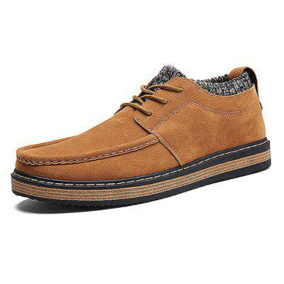 Men Stylish Student Knitted-entry Skate Casual Leather ShoesCasual Shoes<br>Men Stylish Student Knitted-entry Skate Casual Leather Shoes<br><br>Closure Type: Lace-Up<br>Contents: 1 x Pair of Shoes, 1 x Box<br>Function: Slip Resistant<br>Materials: Suede, Rubber<br>Occasion: Tea Party, Shopping, Outdoor Clothing, Office, Party, Casual, Daily, Holiday<br>Outsole Material: Rubber<br>Package Size ( L x W x H ): 25.00 x 6.00 x 5.00 cm / 9.84 x 2.36 x 1.97 inches<br>Package weight: 1.0200 kg<br>Pattern Type: Solid<br>Product weight: 1.0000 kg<br>Seasons: Autumn,Spring,Winter<br>Style: Modern, Leisure, Fashion, Comfortable, Casual<br>Toe Shape: Round Toe<br>Type: Casual Leather Shoes<br>Upper Material: Suede