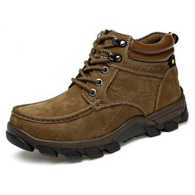 Men Outdoor Warmest Padded-ankle Hiking BootsMens Boots<br>Men Outdoor Warmest Padded-ankle Hiking Boots<br><br>Closure Type: Lace-Up<br>Contents: 1 x Pair of Shoes, 1 x Box, 1 x Dustproof Paper<br>Function: Slip Resistant<br>Lining Material: Fur<br>Materials: Fur, Leather, Rubber<br>Occasion: Sports, Shopping, Running, Riding, Outdoor Clothing, Casual, Daily, Holiday<br>Outsole Material: Rubber<br>Package Size ( L x W x H ): 33.00 x 22.00 x 11.00 cm / 12.99 x 8.66 x 4.33 inches<br>Package weight: 1.0500 kg<br>Product weight: 0.9000 kg<br>Seasons: Autumn,Winter<br>Style: Modern, Leisure, Fashion, Comfortable, Casual<br>Toe Shape: Round Toe<br>Type: Boots<br>Upper Material: Leather