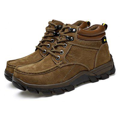 Men Outdoor Warmest Padded-ankle Hiking Boots