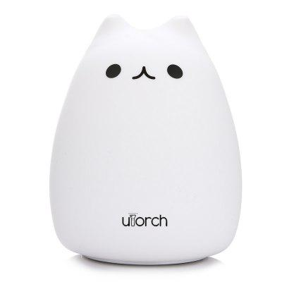 Utorch Color Changing Cat Night LightNight Lights<br>Utorch Color Changing Cat Night Light<br><br>Battery Quantity: 1<br>Brand: Utorch<br>Color Temperature or Wavelength: 625nm / 520nm / 455nm<br>Connector Type: Other<br>Features: Color-changing<br>Light Source Color: RGB<br>Light Type: LED Night Light<br>Package Contents: 1 x LED Night Light, 1 x USB Cable<br>Package size (L x W x H): 12.50 x 12.50 x 15.50 cm / 4.92 x 4.92 x 6.1 inches<br>Package weight: 0.3000 kg<br>Plug Type: Micro USB<br>Power Source: USB charging<br>Product size (L x W x H): 11.00 x 11.00 x 15.30 cm / 4.33 x 4.33 x 6.02 inches<br>Product weight: 0.2060 kg<br>Quantity: 1<br>Style: Cartoon<br>Wattage: 0-5W
