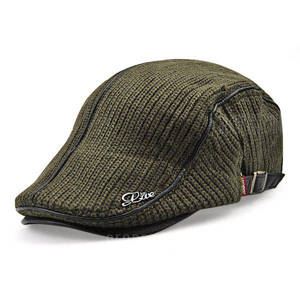 Buy JAMONT Thicken Keep Warm Knitted Peaked Cap Men ARMY GREEN