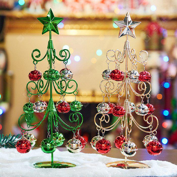 Artificial Christmas Tree Iron Desktop Ornaments 1PC