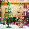 Artificial Christmas Tree Iron Desktop Ornaments 1PC - RED