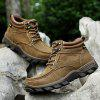 Men Outdoor Warmest Padded-ankle Hiking Boots - KHAKI