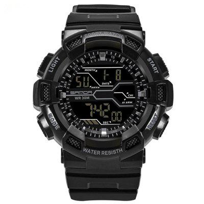 Sanda 378 Sports Trendy Rubber Band Hombres Reloj