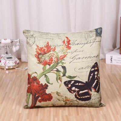 LAIMA Soft Pillowcase Butterfly Printed Pillow Cover