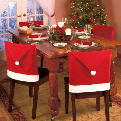Christmas Santa Claus Hat Chair Back Cover