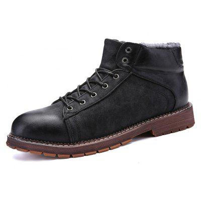 Men British Warmest Brush-off Casual Ankle Boots Long Beach Sale b