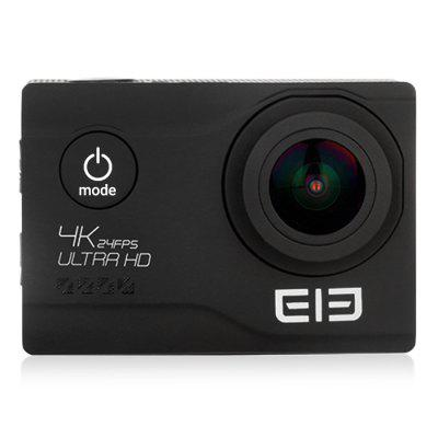 Elephone EleCam Explorer Elite 4K Action CameraAction Cameras<br>Elephone EleCam Explorer Elite 4K Action Camera<br><br>Aerial Photography: Yes<br>Anti-shake: Yes<br>Application: Ski<br>Audio System: Built-in microphone/speaker (AAC)<br>Auto Focusing: Yes<br>Battery Capacity (mAh): 1050mAh<br>Battery Type: External<br>Brand: Elephone<br>Brand Name: Elephone EleCam<br>Camera Timer: Yes<br>Charge way: AC adapter,USB charge by PC<br>Charging Time: 2H<br>Chipset: Novatek 96660<br>Chipset Name: Novatek<br>Delay Shutdown: Yes<br>Exposure Compensation: +0.3,+0.5,+1,+1.5,+2,-0.5,-1,-1.5,-2,0<br>Features: Wireless<br>Function: Anti-Shake, Auto Focusing, Camera Timer<br>Image Format: JPEG<br>Interface Type: TV-Out, Micro USB<br>Language: English,French,German,Italian,Portuguese,Russian,Simplified Chinese,Spanish<br>Lens Diameter: F =2.0mm<br>Max External Card Supported: TF 64G (not included)<br>Microphone: Built-in<br>Model: Explorer Elite<br>Night vision: No<br>Package Contents: 1 x Action Camera, 1 x Waterproof Cover, 1 x Adhesive Tape, 1 x Cleaning Cloth, 1 x Bandage, 1 x Bicycle Stand, 1 x Accessory Seat (1), 1 x Accessory Seat (2), 1 x Steel Rope, 1 x Ribbon, 1 x Fixing B<br>Package size (L x W x H): 24.50 x 11.00 x 8.30 cm / 9.65 x 4.33 x 3.27 inches<br>Package weight: 0.7250 kg<br>Power Supply: 5V 1A<br>Product size (L x W x H): 5.92 x 4.10 x 2.98 cm / 2.33 x 1.61 x 1.17 inches<br>Product weight: 0.0550 kg<br>Screen: With Screen<br>Screen resolution: 960 x 240<br>Screen size: 2.0inch<br>Screen type: TFT<br>Standby time: 100H<br>Time lapse: Yes<br>Time Stamp: Yes<br>Type: Sports Camera<br>Type of Camera: 4K<br>Video format: MP4<br>Video Frame Rate: 60FPS<br>Video Output: HDMI<br>Video Resolution: 1080P (1920 x 1080),2K(2560 x 1440)30fps,4K (3840 x 2160),720P (120fps)<br>Waterproof: Yes<br>Waterproof Rating: 30M<br>White Balance Mode: Auto<br>Wide Angle: 170 degree wide angle<br>WIFI: Yes<br>WiFi Distance: 50M<br>WiFi Function: Image Transmission,Remote Control<br>Workin