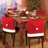 Christmas Santa Claus Hat Chair Back Cover - RED