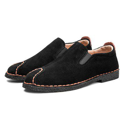 Men British Warmest Stitching Casual Flat and Loafer