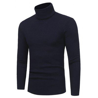 Male Classic Solid Color Turtleneck Sweater