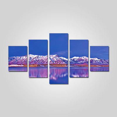 God Painting Mountain Lack Scenery Printed Painting 5PCS