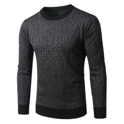 Letter Printing Crew Neck Knitting Sweater