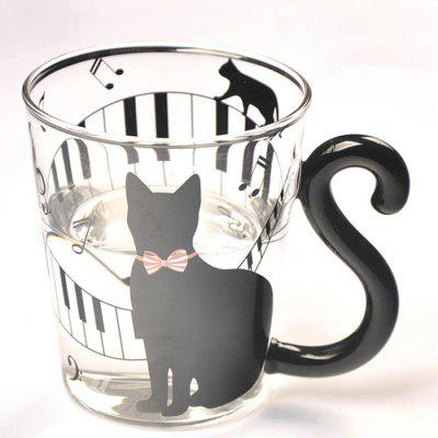 Creative Cat Water Glass Handmade Heat-resistant Cup 1pc