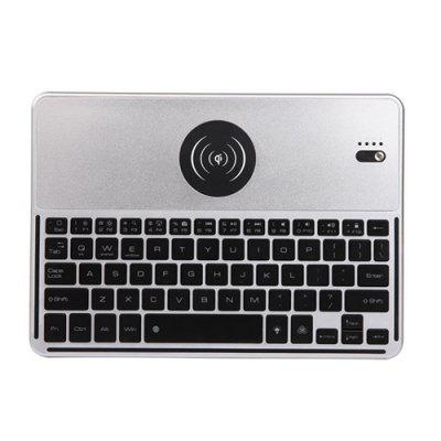 7 Colors Backlight Bluetooth Keyboard with Wireless Charger