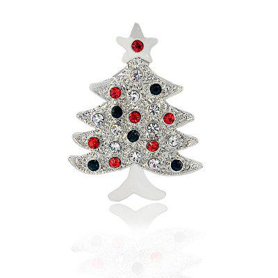 Trendy Colorful Christmas Tree Women Brooch