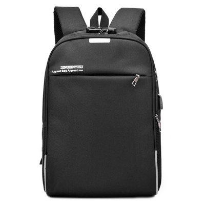 Men Laptop BackpackBackpacks<br>Men Laptop Backpack<br><br>Features: Wearable<br>For: Daily Use, Outdoor, Shopping, Traveling<br>Gender: Men<br>Material: Nylon<br>Package Size(L x W x H): 32.00 x 3.00 x 47.00 cm / 12.6 x 1.18 x 18.5 inches<br>Package weight: 0.5800 kg<br>Packing List: 1 x Backpack<br>Product weight: 0.5600 kg<br>Style: Fashion, Casual<br>Type: Backpacks