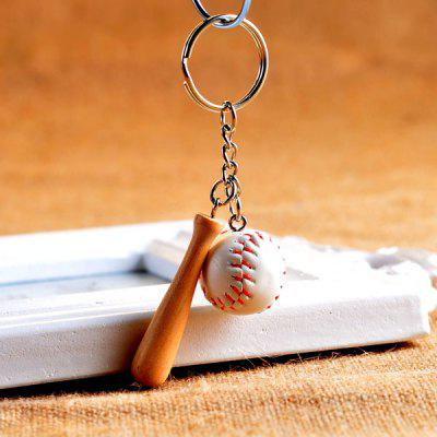Emulational Baseball Style Key Ring