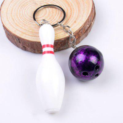 Creative Mini Emulational Bowling Style Key Ring