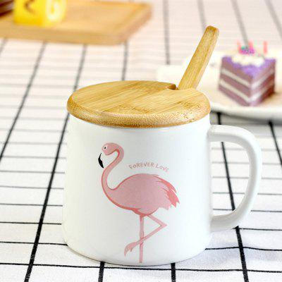 Фото 956 Creative Flamingo Words Ceramic Milk Coffee Cup 1PC. Купить в РФ