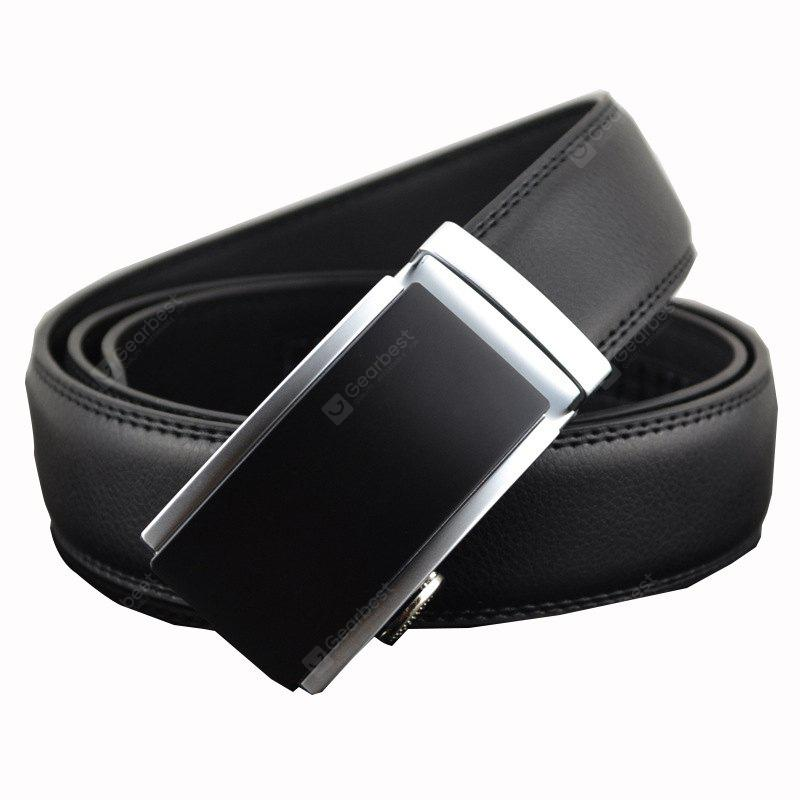 Male Automatic Buckle Genuine Leather Waist Belt